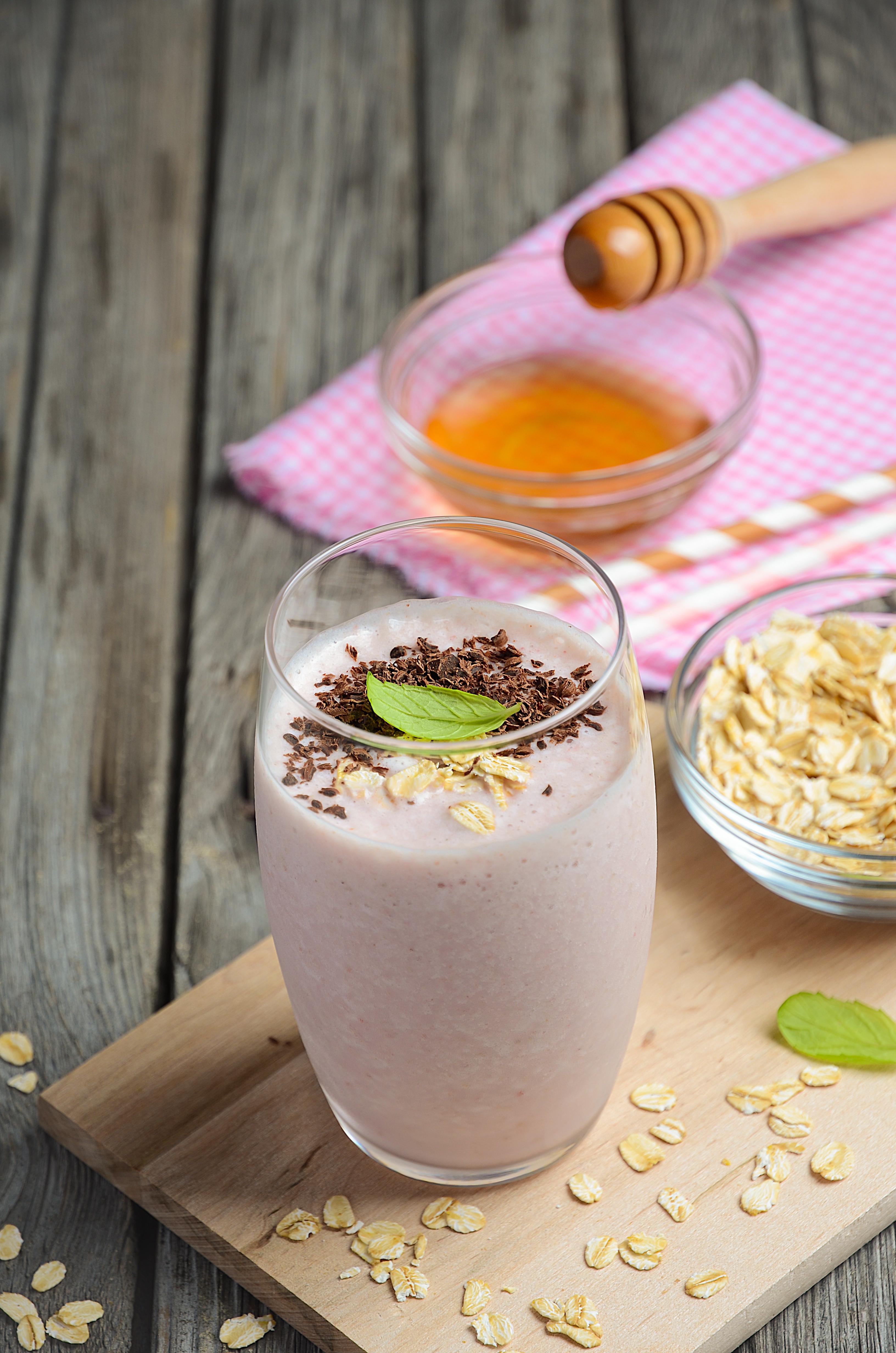 Strawberry Banana Oatmeal Protein Shake