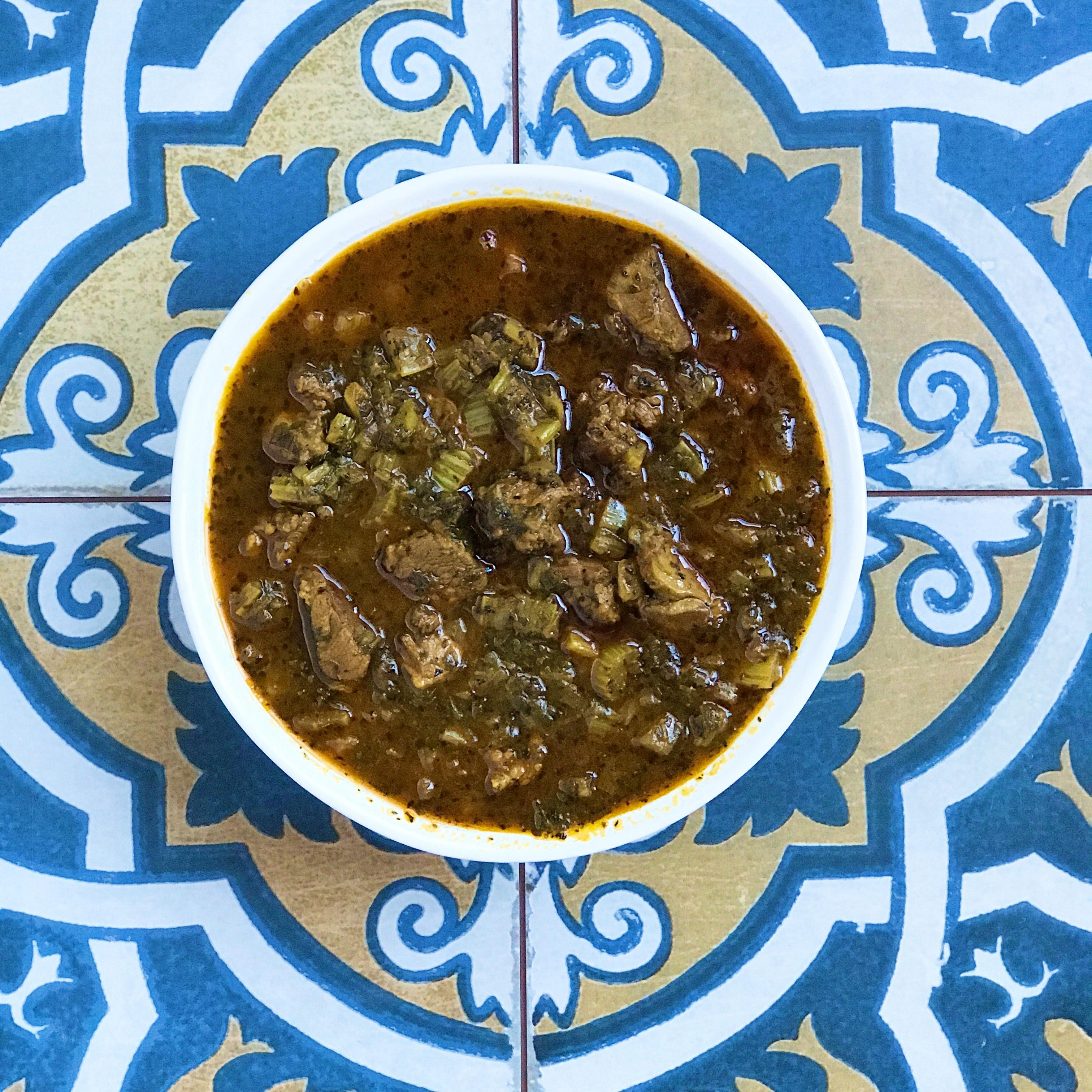 khoresht karafs in a bowl