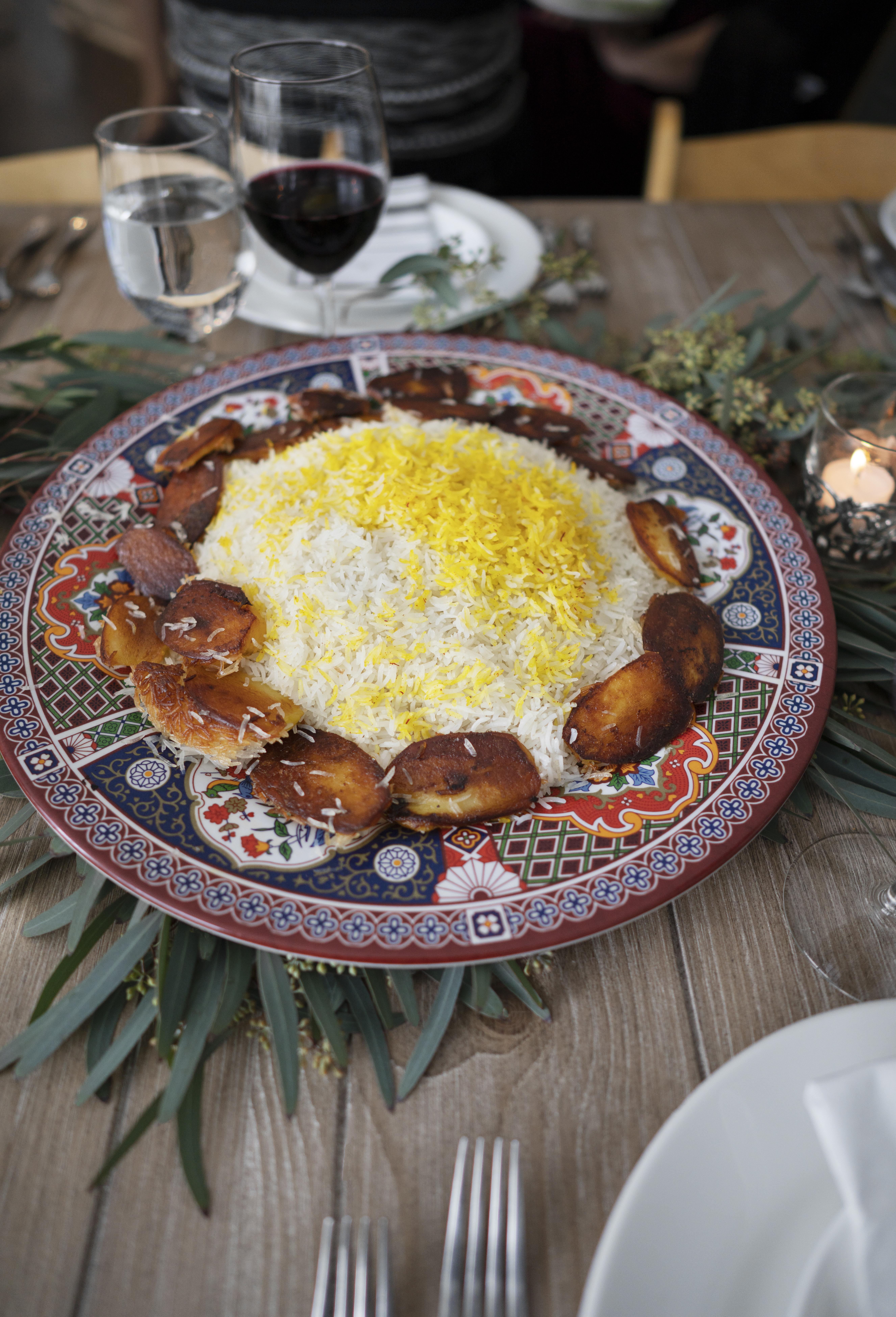 traditional persian rice dish