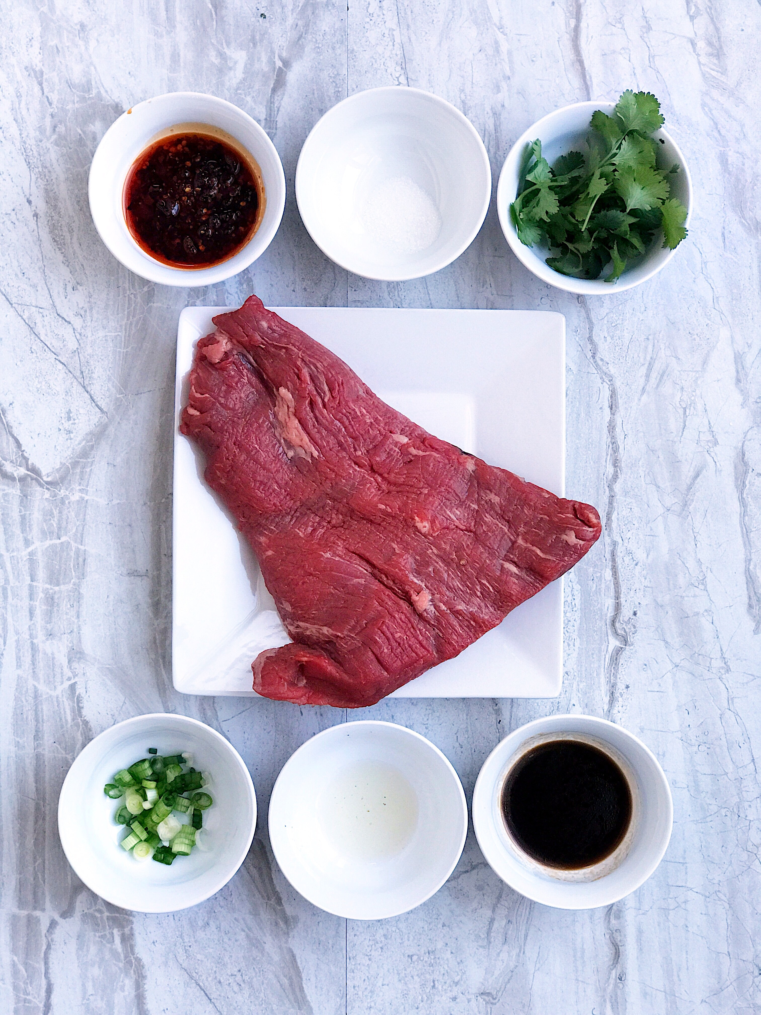 preparing szechuan beef