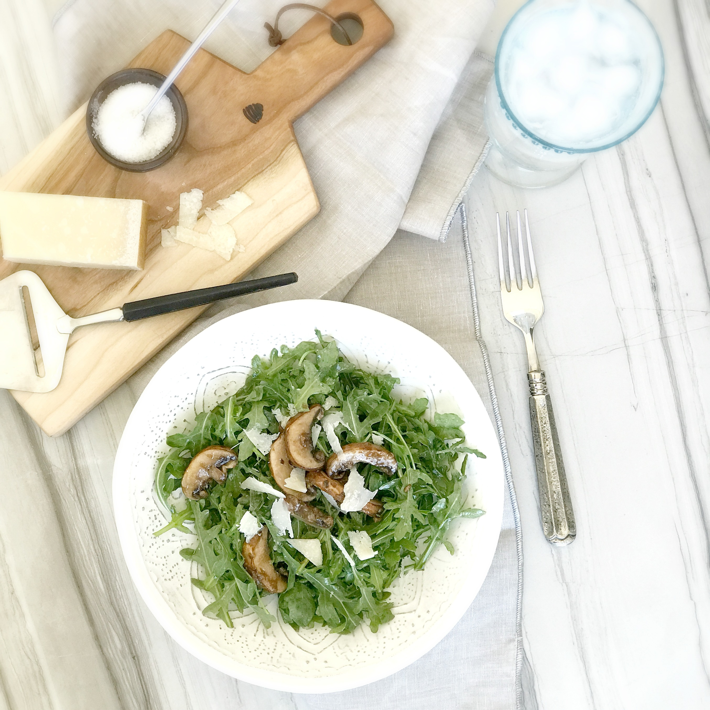 ARUGULA SALAD WITH ZESTY MARINATED MUSHROOMS Culinary Butterfly Recipe