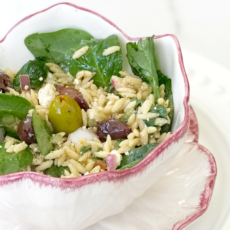 Mediterranean Orzo Spinach Salad Culinary Butterfly Recipe