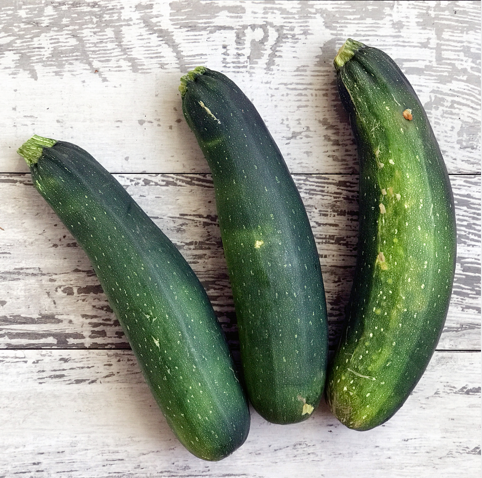 Three zucchinis for zucchini bread