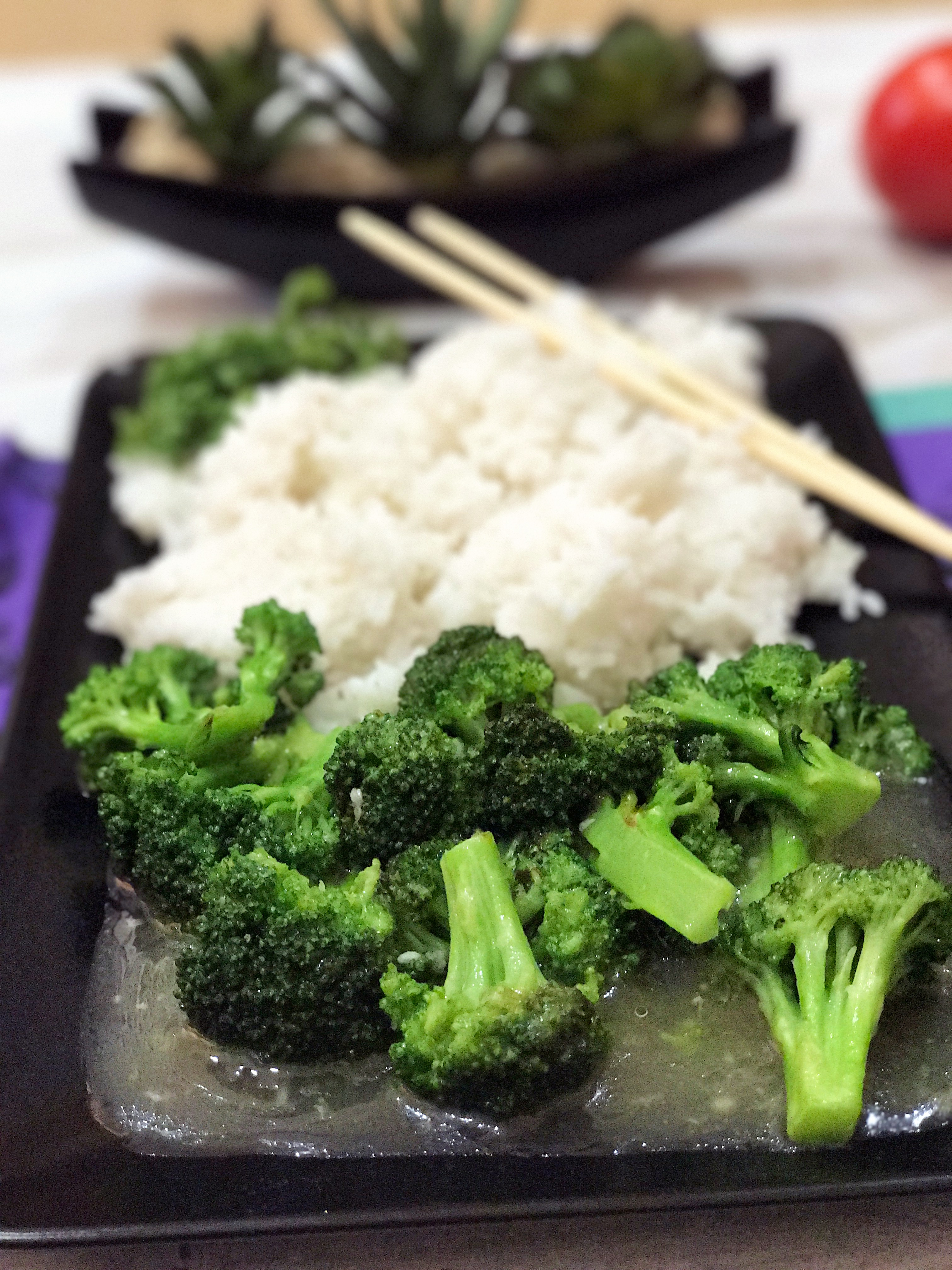 broccoli and rice for stir fry