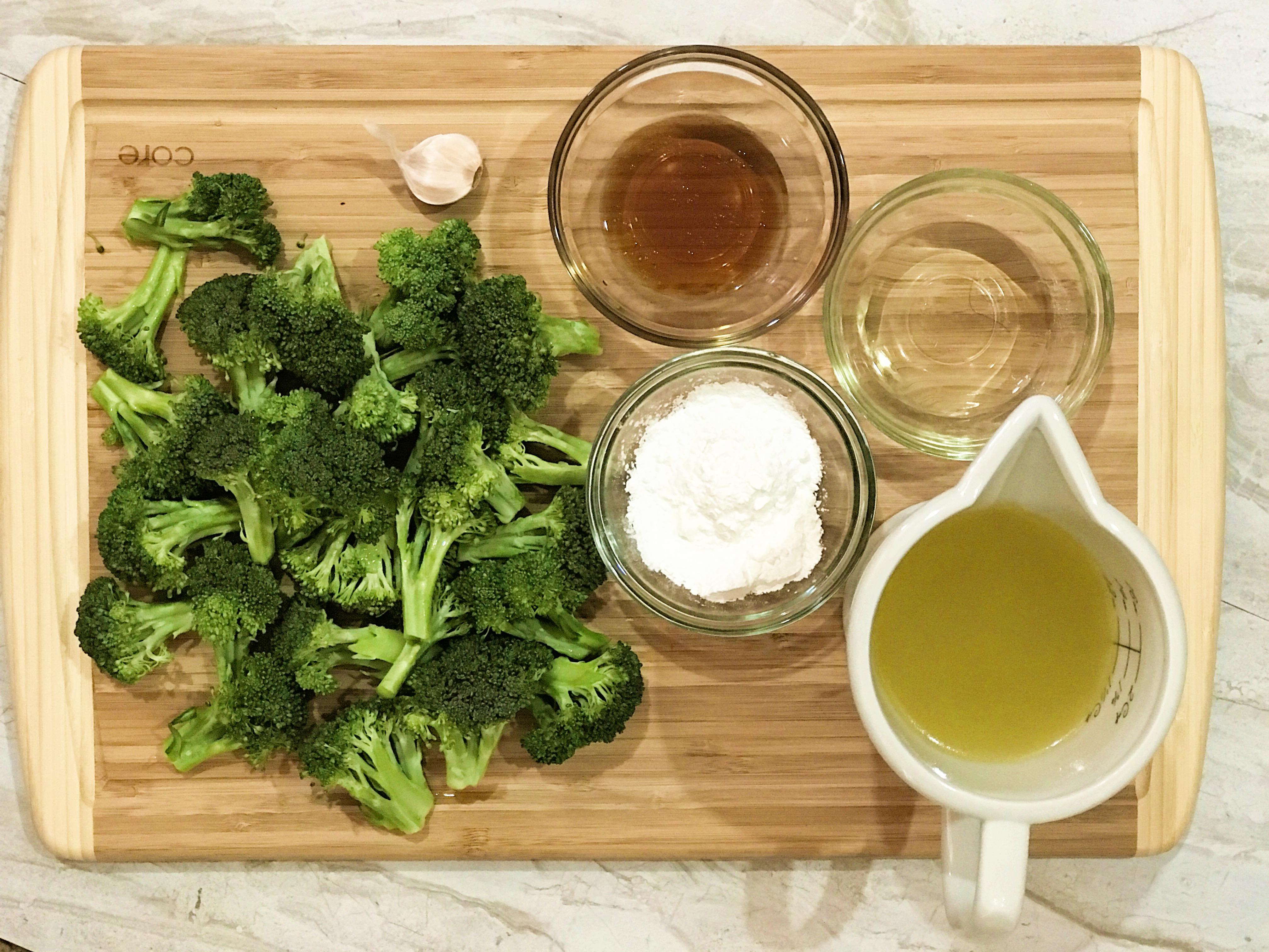 garlic broccoli stir fry ingredients