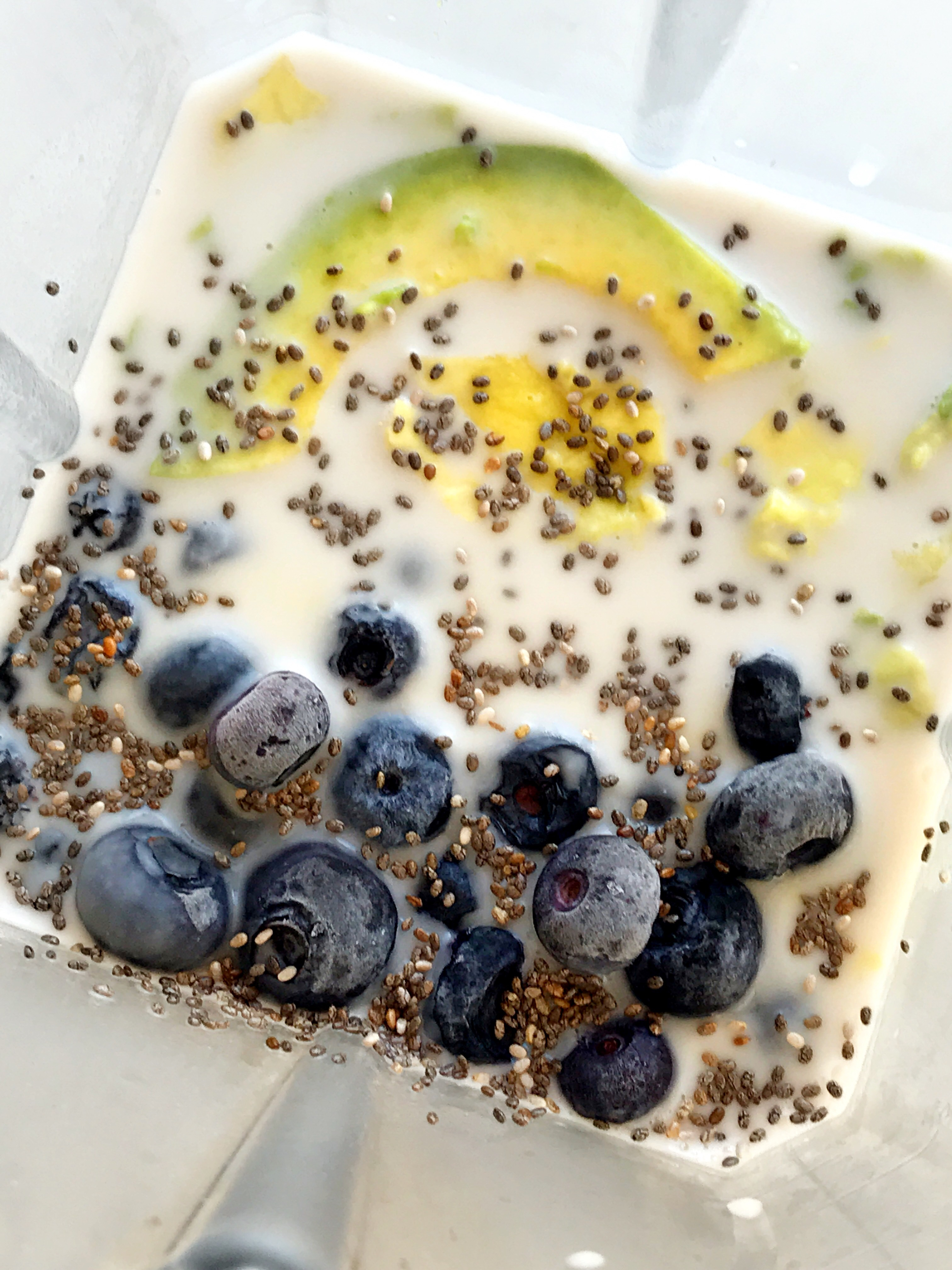 Healthy yogurt with blueberry and chia seeds