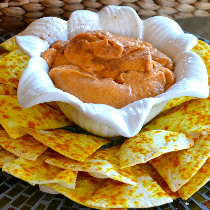 Pumpkin Dip - Turmeric Chips Culinary Butterfly Recipe