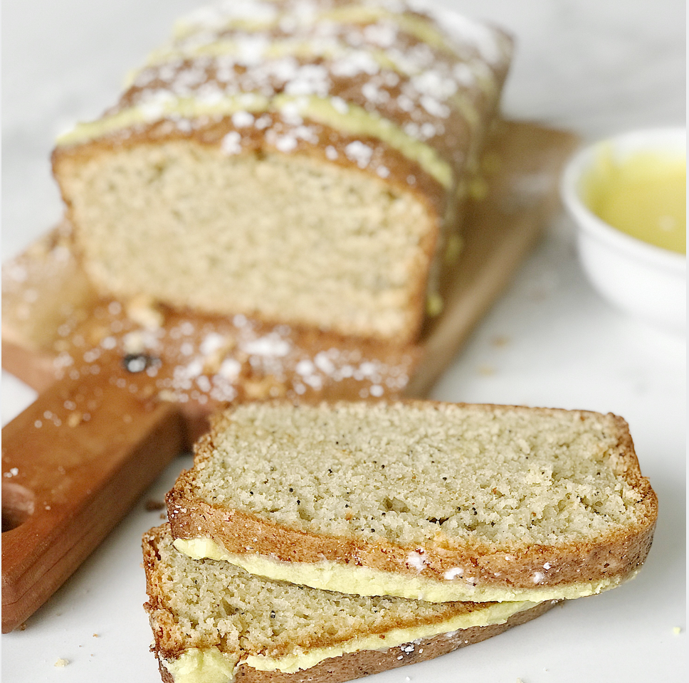 Gluten-free Lemon Zucchini Bread with Sweet Turmeric Glaze