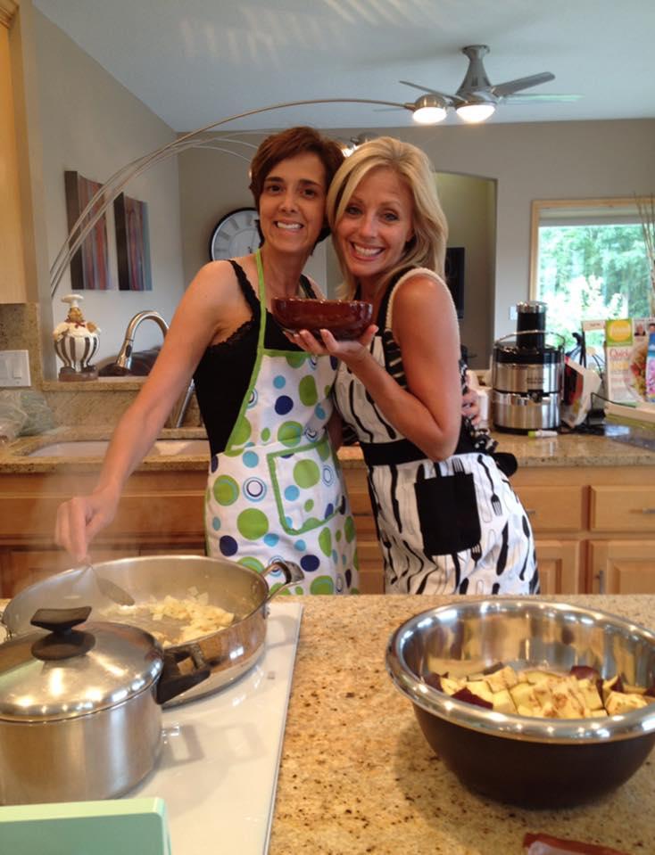 Vivi and I in the kitchen, enjoying preparing Israeli lamb rice.
