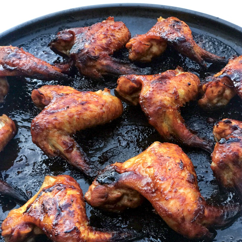 easy oven baked chicken wings with bbq sauce